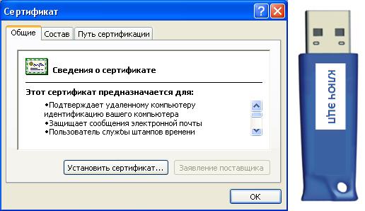 Сертификат электронной подписи от ДЭНСИ